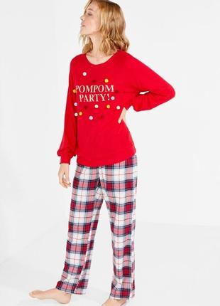 Пижама, свитшот women'secret с помпонами