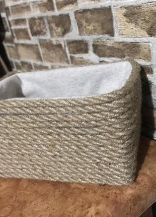 Корзинка,органайзер,коробка из джутовой верёвки