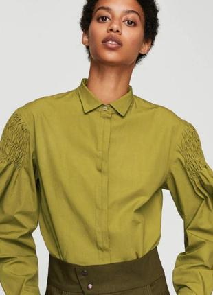 Рубашка из хлопка mango