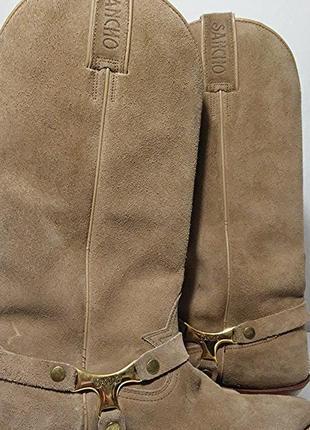 Sancho, казаки ботинки замшевые бежевые, made in spain
