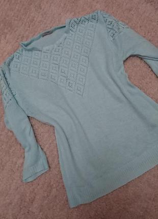 Мятный свитер, кофта, джемпер