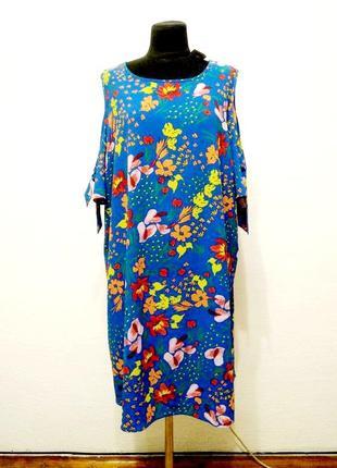 Стильное модное летнее яркое платье большого размера