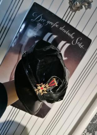 Лакова шапка кепка с козирком for play поліція рольова