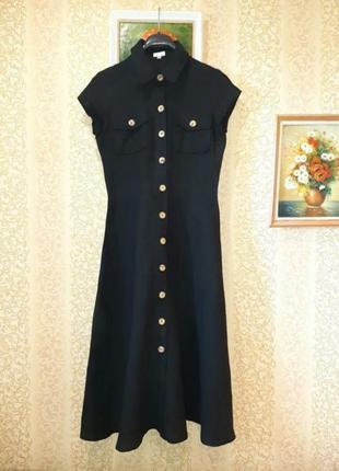 Винтажное платье из чистого льна от phase eight
