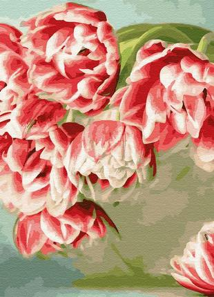 "Картина по номерам brushme ""розовые тюльпаны"" 40*50 см gx33221"