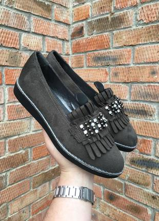 Мокасины, туфли женские graceland размер 39 (25 см.)