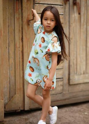 Тренд 2020, летнее платье с открытыми плечами,детские платья днепр,платье на девочку
