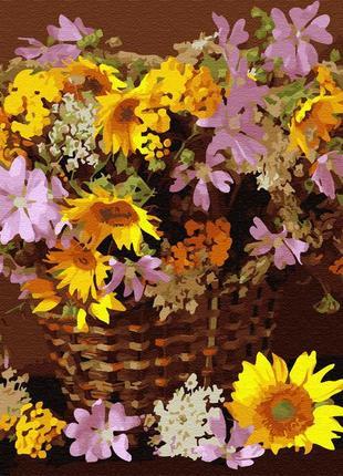 "Картина по номерам brushme ""цветочная корзина"" 40*50 см gx34025"