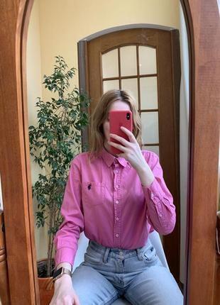 Розовая базовая рубашка polo