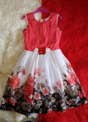 Невероятно красивое праздничное нарядное платье на девочку