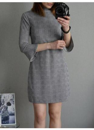 Платье primark, клетка/трикотаж