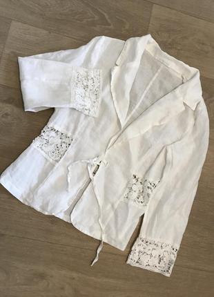 Бесподобный пиджак лён, италия, р.м