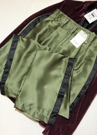 Новые атласные штаны брюки штани италия calliope
