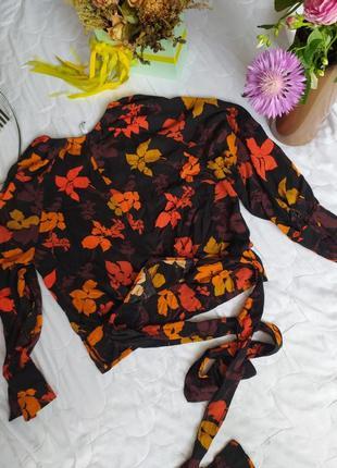 Блузка, топ, укороченная манго
