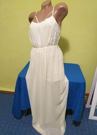 Винтажное платье в пол