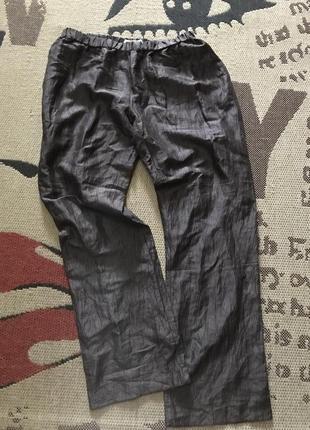 Шикарные брюки, италия, лён + шёлк!