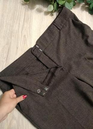 Классические коричневые укороченные брюки штаны капри
