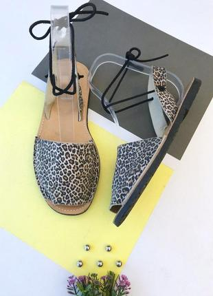 Замшевые минорки в леопардовый принт