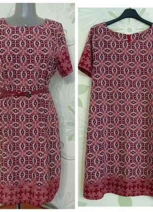Платье свободного кроя из нежной тонкой ткани с ярким орнаментом new look