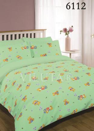 Желтый комплект постельного белья детский ранфорс