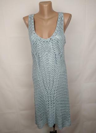 Платье новое стильное вязаное оригинал zara m