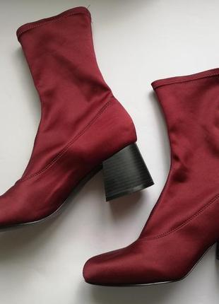 Ботинки чулки ботильоны носки monki 40р новые
