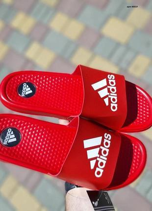 Мужские тапочки adidas red (массажные)