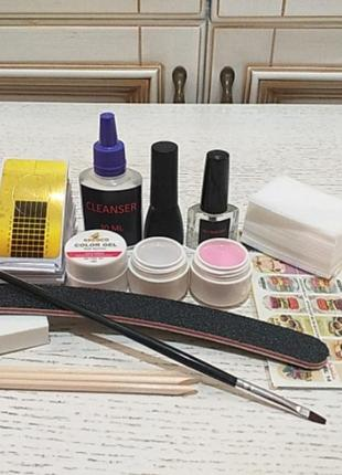 Стартовый набор для гелевого наращивания ногтей