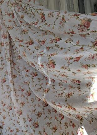 Чудесный цветочный тюль в стиле прованс