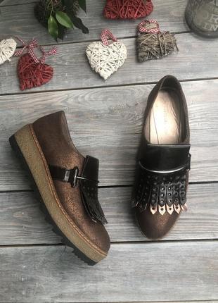 Tamaris комфортные лоферы на платформ туфли