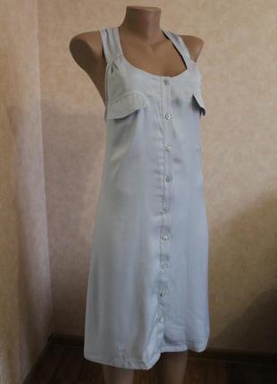 Такого больше не найдете... нежно голубое платье, сарафан,с красивой спинкой