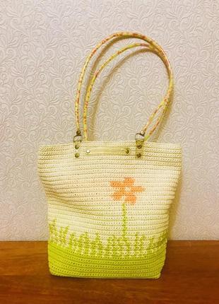 Суперская яркая летняя сумка на длинных ручках для солнечного настроения