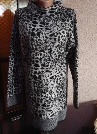 Свитер удлиненный очень теплый шерсть,размер евро 16 (48-50 размер) от per una