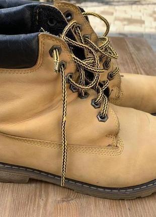 Ботинки в стиле timberland кожа