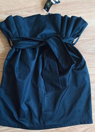 Черная юбка тюльпан баска