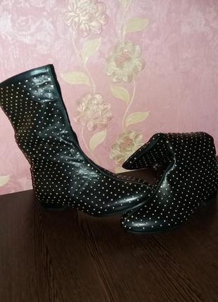 Ботинки черные на низком ходу весна-осень