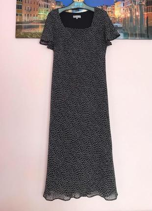 Стильное платье в горошек