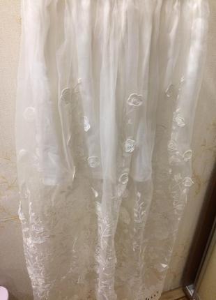 Очень красивая юбка из органзы 3d
