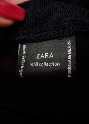 Черный свитшот джемпер с сеткой  кроп-бренд--zara-10-12р с спинка сеточка распродажа