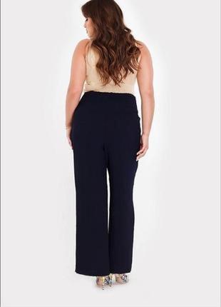 Женские широкие штаны брюки палаццо большого размера 💯 вискоза m&s