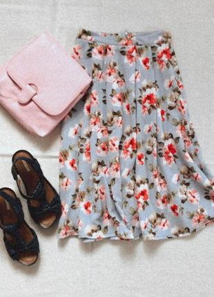 Летняя юбка в цветочный принт new look