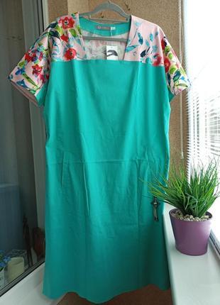 Красивое летнее платье свободного силуэта