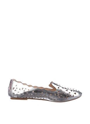 Серебристые балетки another pair of shoes с перфорацией2 фото