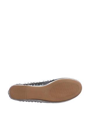 Серебристые балетки another pair of shoes с перфорацией4 фото
