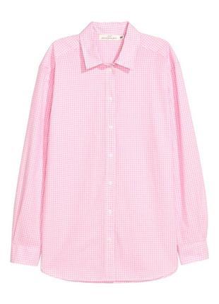 Женская хлопковая рубашка h&m, р. 44 евро - 50 наш