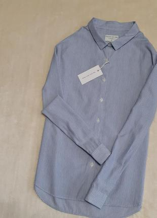 Новая рубашка в полоску хлопок лиоцелл длинный рукав размер м