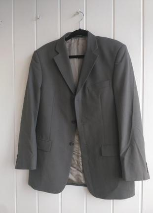 Костюм серый шерстяной двойка мужской balmain оверсайз оригинал