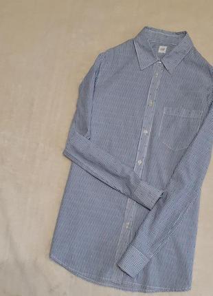 Рубашка в полоску с шитьём длинный рукав хлопок размер 10 размер gap