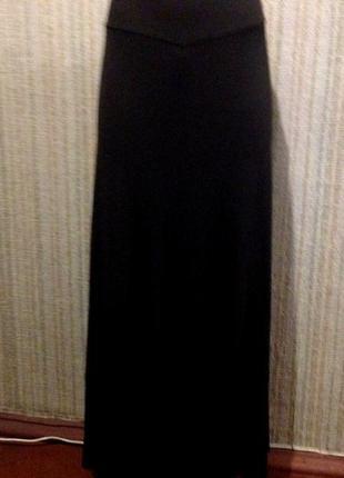 Красивая юбка в пол длинная черная 18