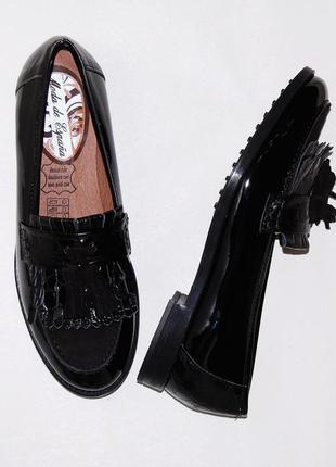 Туфли кожа кожаные лоферы 37 р-р